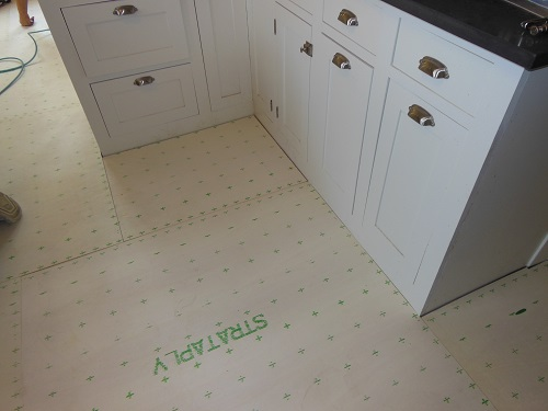 plywood underlayment covers floor