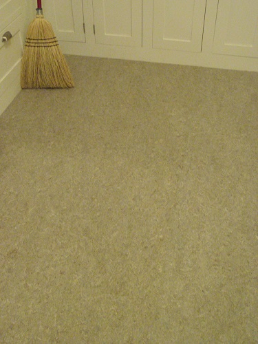 broom and linoleum