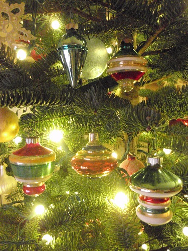 ornaments shaped like tops