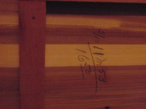 interior of cedar chest