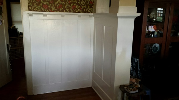 Paneling and plate rail painted white